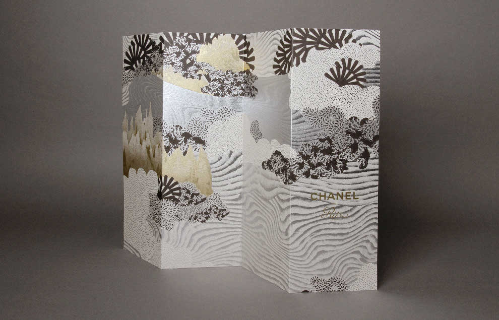 Chanel Ritz Brochure - Hot stamping